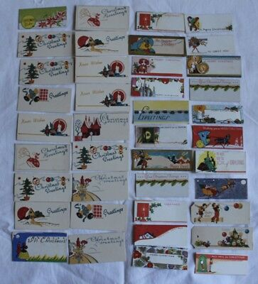 Vintage photo ephemera paperwork x 40 gift tags christmas vintage