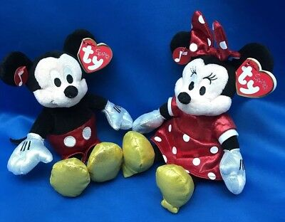ac49275f28e DISNEY TY Beanie Babies SPARKLE GIGGLING MICKEY   MINNIE Mouse EUROPE  EXCLUSIVE