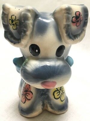 Vintage Adorable Schnauzer Puppy Planter Figure ~ Marilyn Exclusive Consco Japan