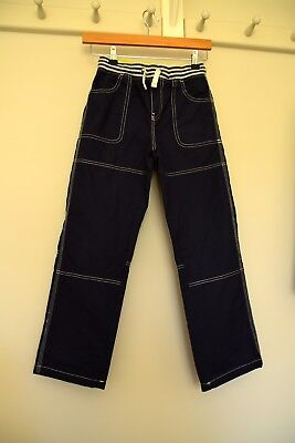 Boys Mini Boden Cargo Style Trousers - Dark Blue. 10 years. Excellent condition.
