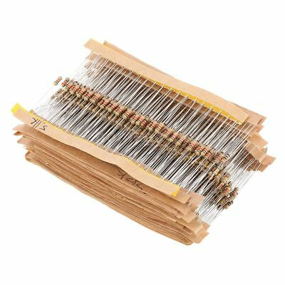 860pcs 1 ohm-1M ohm 1/4W Carbon Film Resistors Assortment Kit 43 Values E3A3