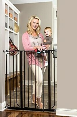 Extra Tall Deluxe Gate Baby Infant Child Stairs Thru Pet Dog Home Safety Walk
