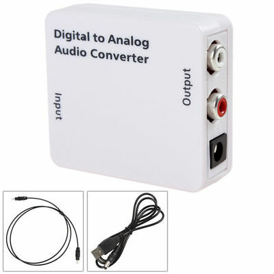 Optical 3.5mm Coaxial Toslink Digital to Analog Audio Adapter Converter RCA U9A8