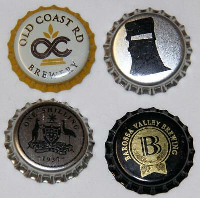 Collectible Group Of 4 Uncrimped Australian Bottle Caps/tops Group 17 - New