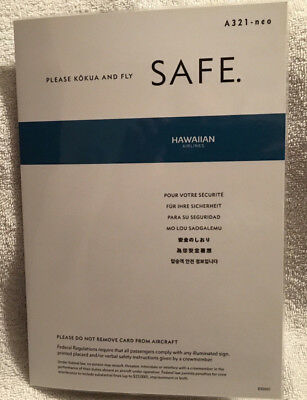 Hawaiian Airlines A321 Safety Card Emergency Instructions Rev. 7/17