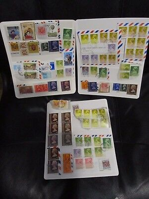 3 pages of Hong Kong stamps on paper, good mix, duplication, values to $5