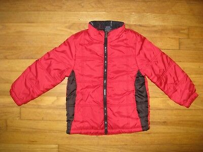 Faded Glory Boys Girls Size Small 6-7 Red Black Winter Puffer Snow Coat Jacket