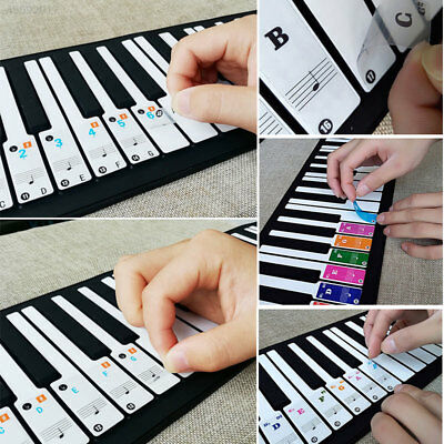 Piano Keyboard Music Note Stickers Colorful Removable for 37/ 49/ 61/ 88 new