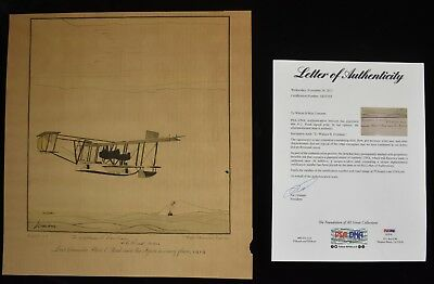 1928 Aviation Print Signed by Albert C Read From Series by Lemon See others PSA