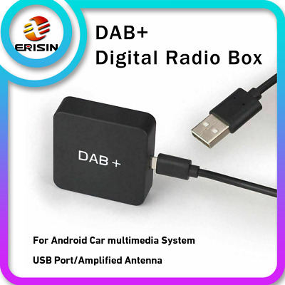 DAB+Digital Radio Tuner Amplified Antenna Kit for Car Stereo android 7.1/8.0