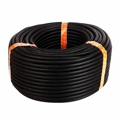 25 Ft Split Wire Loom Conduit Polyethylene Tubing Black Color Sleeve Tube R3W7