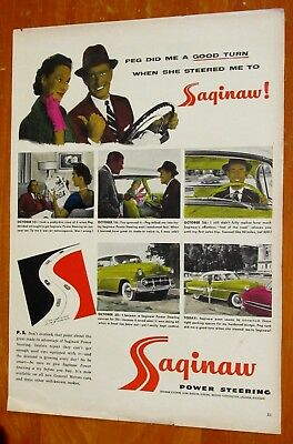 Unique Artist Colored 1953 Saginaw Power Steering With Chevy Bel Coupe - Vintage