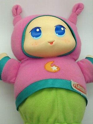 Hasbro Lullaby Gloworm Gloworld 2009 Pink Glows and Plays a Lovely Lullaby Plays