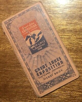 Vintage GREAT LAKES EXPOSITION Ticket Booklet CLEVELAND 1936 - RARE