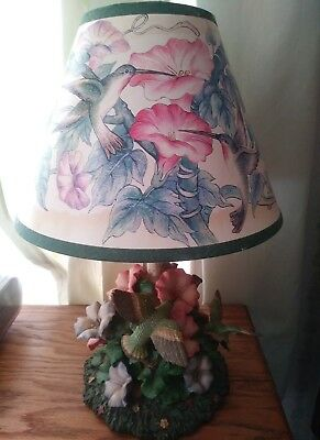 beautiful hummingbird flower table top lamp ceramic