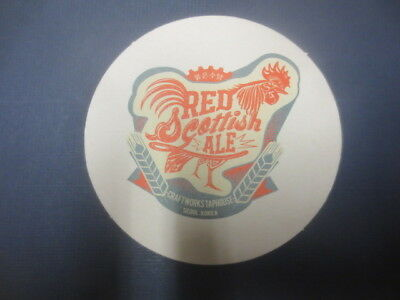 1 only CRAFTWORKS Brewery,SEOUL,KOREA ,Australian Issue  BEER Coaster