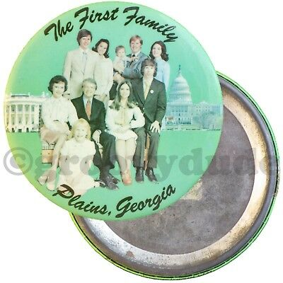 """The First Family Plains, Georgia Jimmy Carter 4"""" Political Pin Pinback Button"""
