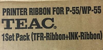 TEAC Printer Ribbon for P-55/WP-55 1 Pack Set (TFR-Ribbon+Ink-Ribbon)