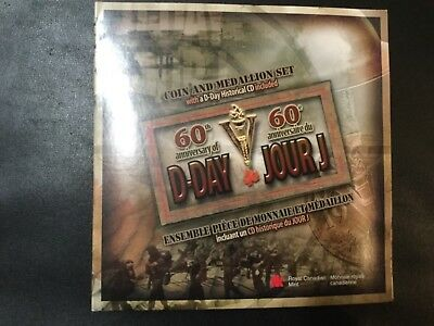1944-2004 CANADA 60th ANNIVERSARY OF D-DAY SILVER COIN SET!
