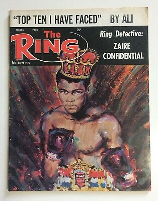 """Muhammad Ali """"Top Ten I Have Faced"""" The Ring Magazine 1975 Boxing"""