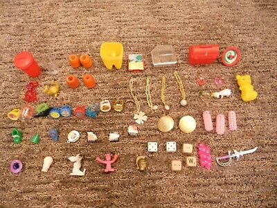 LOT of 56 Vintage Gumball Machine Charms Vending Trinkets Prizes