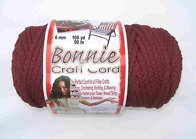 Bonnie Macramé Craft Cord 6 mm x 100 yd.- Wine