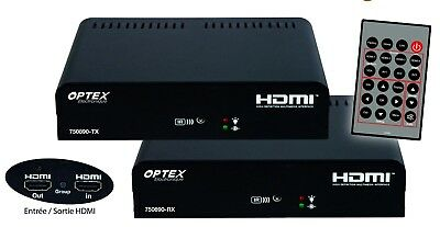TRANSMETTEUR AUDIO/VIDEO CPL HDMI FULL HD 1080p AVEC TELECOMMANDE OPTEX
