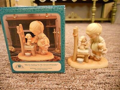 Vintage 1996 Enesco Memories of Yesterday We're Going To Be Great Friends IOB