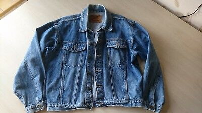 Blue Jeans Classic denim jacket mens small size.