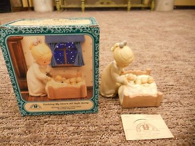 Vintage 1995 Enesco Memories of Yesterday Tucking My Dears All Safe Away IOB
