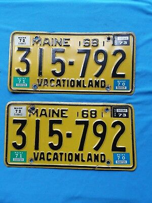2-1968 MAINE license plate FAMOUS IN THE BOOK LICENSE PLATE OF THE UNITED STATE