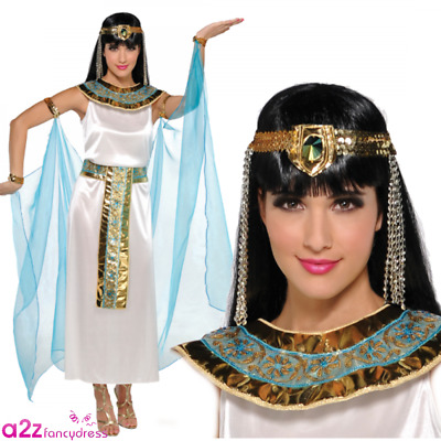 Womens Queen Cleopatra Costume Ancient Egyptian Goddess Adult Ladies Fancy Dress