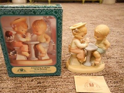 Vintage 1994 Enesco Memories of Yesterday Friendship Is Meant To Be Shared IOB