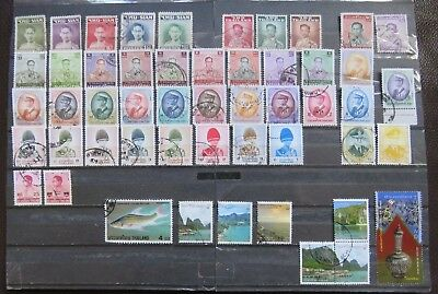 51 Thailand, Thai, Siam, stamps, all different, all used, off paper. See scan.