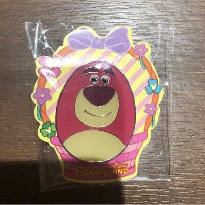 Authentic Hong Kong Disneyland Lotso From Toy Story Easter Egg Pin MA Exclusive