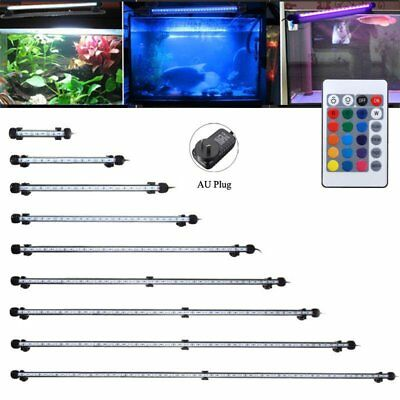 LED RGB Light Aquarium Fish Tank Underwater Submersible Bar Strip Lamp + Remote
