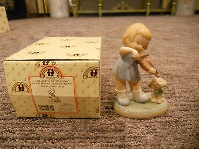Vintage 1995 Enesco Memories of Yesterday Join Me For A Little Song IOB