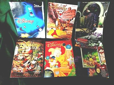 6 Disney Catalogs, 1993 Excellent Free shipping
