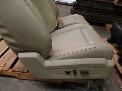 2016  Lincoln Navigator Front Passenger Seat Tan Power Track Bucket Seat Leather
