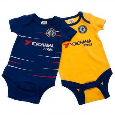 Chelsea Fc 2018/2019 Babies Pram Body Suit Short Sleeve Baby Grow Vest New Borns