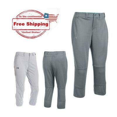 UA Women's Under Armour Softball Pant, Steel Grey (Large, XL) BUY TWO SAVE $$$