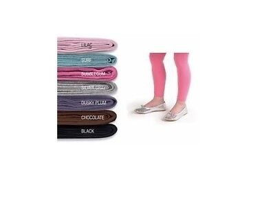 Country Kids Organic Cotton Girls Footless Tights - Size 6-8 Yrs.