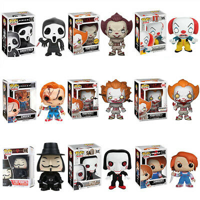 Funko Pop Figure Scary Horror Movie It/Child's Play/Saw/Scream/V for Vendetta
