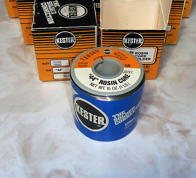 "Kester 44 Rosin Core Solder 60/40 Sn60 .032"" 1 lb. Spool 0.8mm ""Made & In USA"""