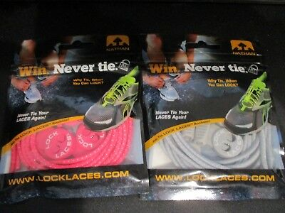 NATHAN Win Never Tie Locklaces LOT 2 gray pink NEW!