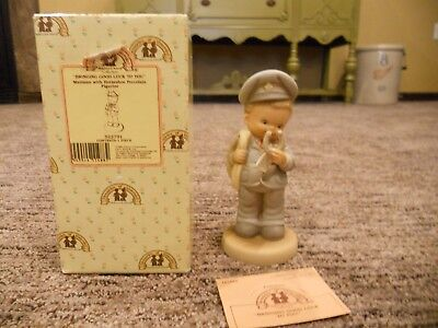 Vintage 1993 Enesco Memories of Yesterday Bringing Good Luck To You IOB