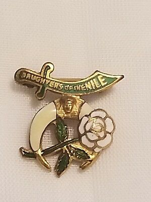 Daughters Of The Nile Pin Gold And Enamel