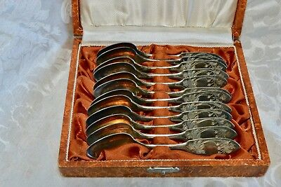 12 Swedish coffee/tea/demi-tasse Tornedalssillver sterling spoons C.O. Persson