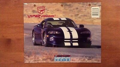 1993 Dodge Viper RT/10 GTS Coupe Fast Lane Signature Series Folder Portfolio