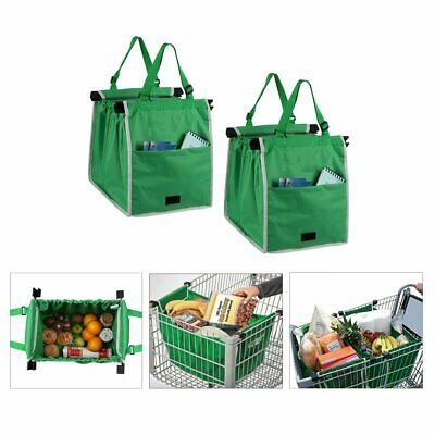 1-5 Eco-friendly Green Grab Bag Reusable & Foldable Shopping Fashion Cart Bags
